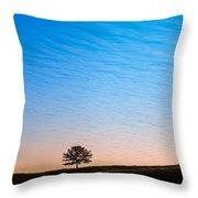 Lone Tree Sunrise Throw Pillow