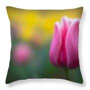 Lone Tulip Throw Pillow