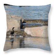 Lone Waterfowl Throw Pillow