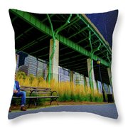 Loneliness In The City Throw Pillow