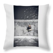 Loneliness Of A Fisherman Throw Pillow