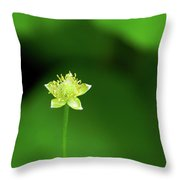 Lonely Avens Throw Pillow