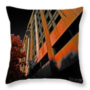 Lonely Balkony Infrared Color 80 Throw Pillow