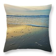 Lonely Beach Throw Pillow