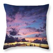 Cacti Sunset Throw Pillow
