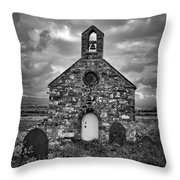 Lonely Chapel Throw Pillow