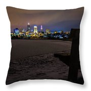 Lonely City Throw Pillow