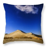Lonely Cloud Over Sand Dunes At Bruneau Dunes State Park Idaho Usa Throw Pillow