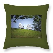 Lonely Companions Throw Pillow