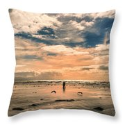 Lonely Couple  Throw Pillow