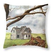 Lonely Farm Throw Pillow