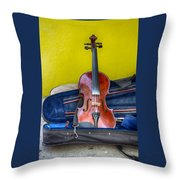 Lonely Fiddle Throw Pillow