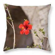 Lonely Floral Throw Pillow