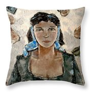 Lonely Girl Lg1 Throw Pillow