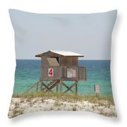 Lonely Guard Shack Throw Pillow