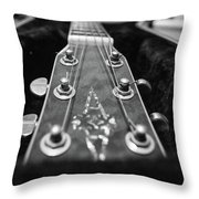 Lonely Guitar Throw Pillow