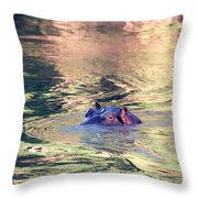 Lonely Hippo Throw Pillow
