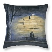 Lonely In Paris Throw Pillow