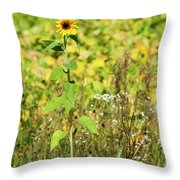 Lonely In The Wild Throw Pillow