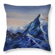 Lonely Mountain Cliff Throw Pillow