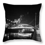 Lonely Night Bw Throw Pillow
