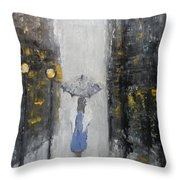 Lonely On A Street Throw Pillow