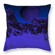 Lonely Outpost Throw Pillow