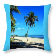 Lonely Palm Throw Pillow