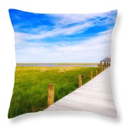 Lonely Pier II Throw Pillow