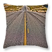 Lonely Road #2 Throw Pillow