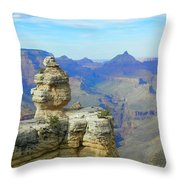 Lonely Rock Throw Pillow