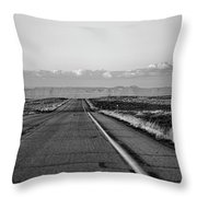Lonely Route 24 Throw Pillow
