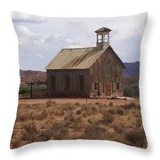 Lonely Schoolhouse Throw Pillow