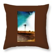 Lonely Skies Throw Pillow