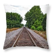 Lonely Track Throw Pillow