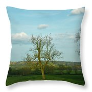 Lonely Tree Cotswold England Throw Pillow