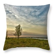 Lonely Tree In Dintelse Gorzen Throw Pillow