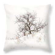Lonely Tree On A Hill Throw Pillow