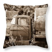 Lonely Truck Throw Pillow