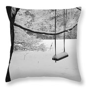Lonely Winter Swing Ipswich Ma Throw Pillow
