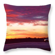 Lonesome Highway Throw Pillow