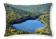 Lonesome Lake - White Mountains New Hampshire Usa Throw Pillow