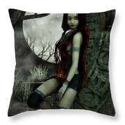 Lonesome Night Throw Pillow by Jutta Maria Pusl