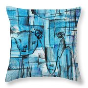 Lonesome Rabbits Throw Pillow