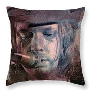 Lonesome Tears Throw Pillow