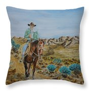 Lonesome Trail Throw Pillow