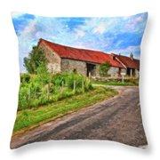Long Barns Near Avincey - P4a16016 Throw Pillow