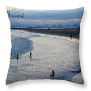Long Beach Ca Throw Pillow