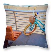 Long Beach Cruiser Throw Pillow