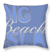 Long Beach Island Throw Pillow